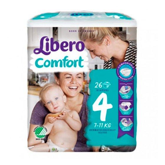 LIBERO COMFORT 4 FRALDA 7-11KG Pack 8 X 26