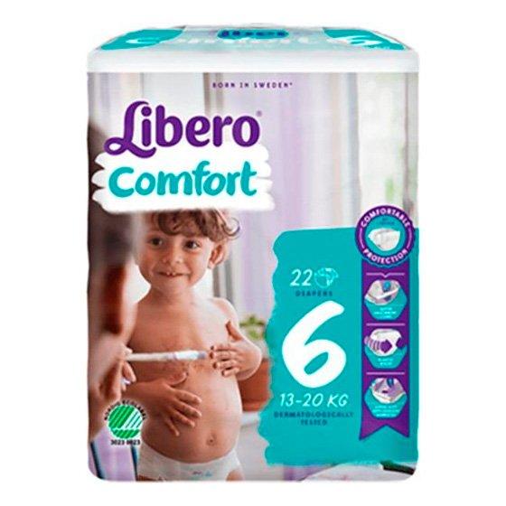 LIBERO COMFORT 6 FRALDA 13-20KG Pack 8 X22