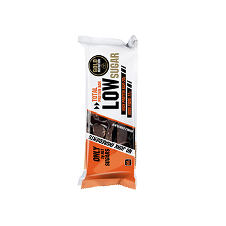 GOLD NUTRITION PROTEIN BAR LOW SUGAR BOLACHA COM PEPITAS DE CHOCOLATE