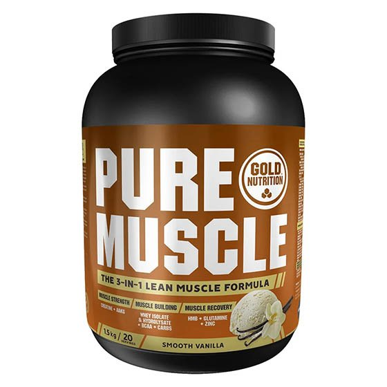 GOLD NUTRITION PURE MUSCLE PO BAUNILHA 1,5 KG