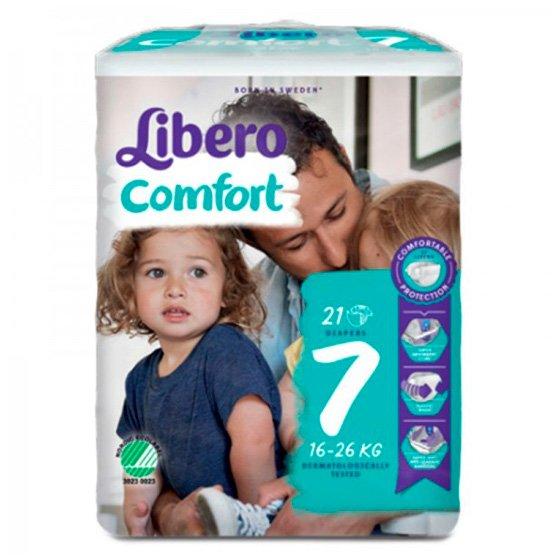 LIBERO COMFORT 7 FRALDA 16-26KG PACK 6 X 21
