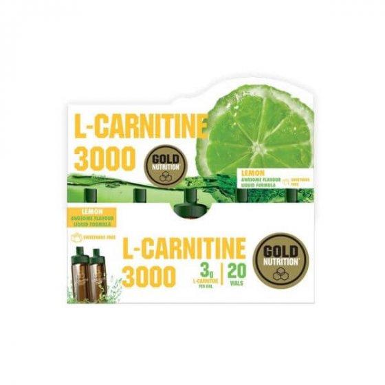 GOLD NUTRITION L-CARNITINA 3000MG 20X 10ML LIMÃO