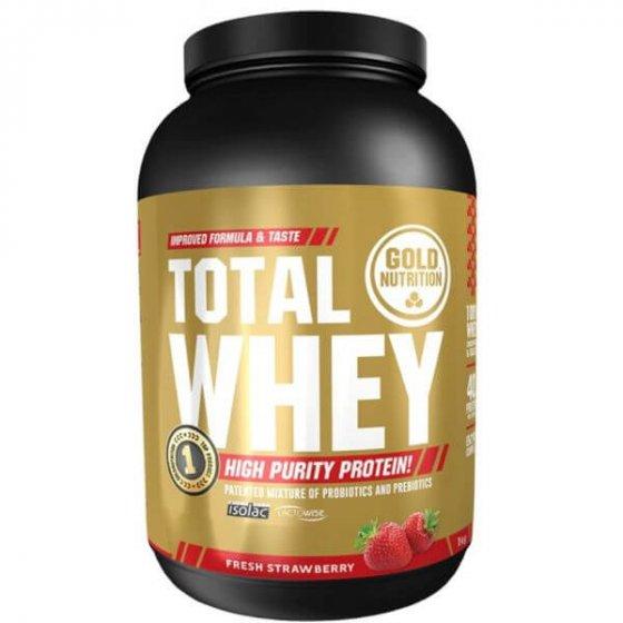 Gold Nutrition Total Whey Pó Morango 1Kg