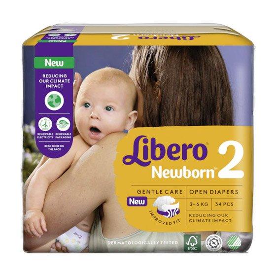LIBERO NEWBORN 2 FRALDA 3-6KG PACK 6 X 34