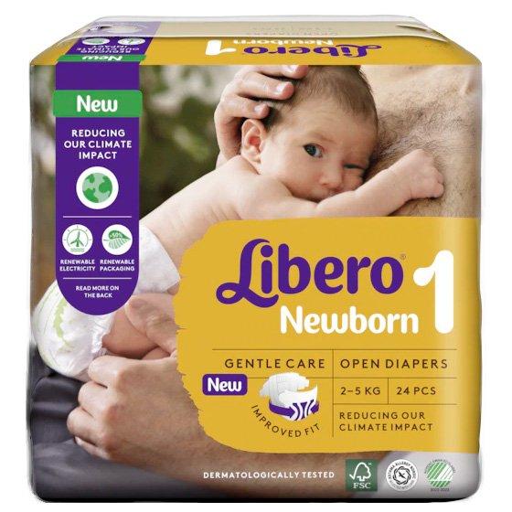 LIBERO NEWBORN 1 FRALDA 2-5KG PACK 4 X 24