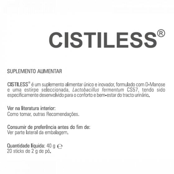 CISTILESS PO STICKS X20 PO SOL ORAL SAQ D-MANOSE LACTOBACILLUS FERMENTUM
