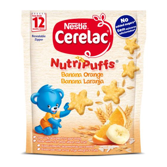 CERELAC NUTRIPUFF BANANA LARANJA 50G 12M+