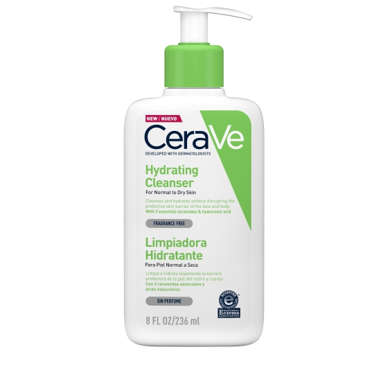 CERAVE CLEANSER HYDRATION LIMPEZA FACIAL 236ML