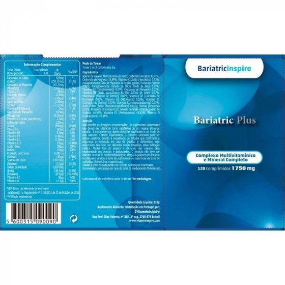 BARIATRIC PLUS COMP X120 COMPS CALCIO (CARBONATO) MAGNESIO (CARBONATO) ASCORBICO (ACIDO) (VITAMINA C) FERROSO (FUMARATO) ZINCO (OXIDO) NICOTINAMIDA (VITAMINA B3) MANGANESIO (GLUCONATO) PANTOTENICO (ACIDO) (VITAMINA B5) COBRE (SULFATO) RETINOL (VITAMINA A