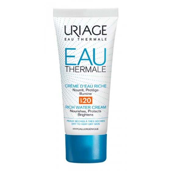 URIAGE EAU THERMAL CREME AGUA RICO SPF20 40ML