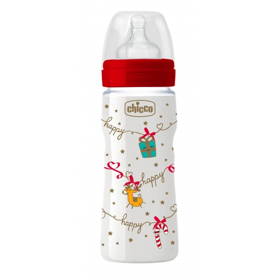 CHICCO BIBERAO WELL BEING CHRISTMAS SILICONE 330ML