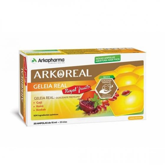 ARKOREAL GELEIA REAL ROYAL FRUITS AMPOLAS 15ML X 20
