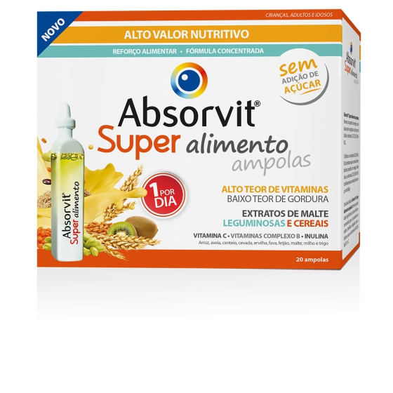ABSORVIT SUPER ALIMENTO AMPOLAS 15ML X 20