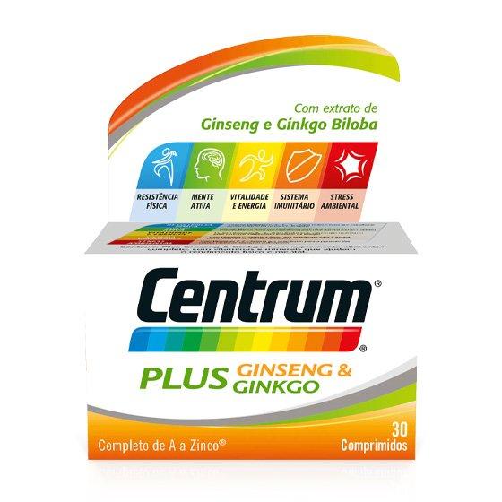 CENTRUM PLUS GINSENG GINKGO COMPRIMIDOS X 30