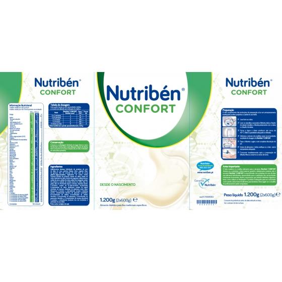 NUTRIBEN CONFORT LEITE LACTENTES 2X600G