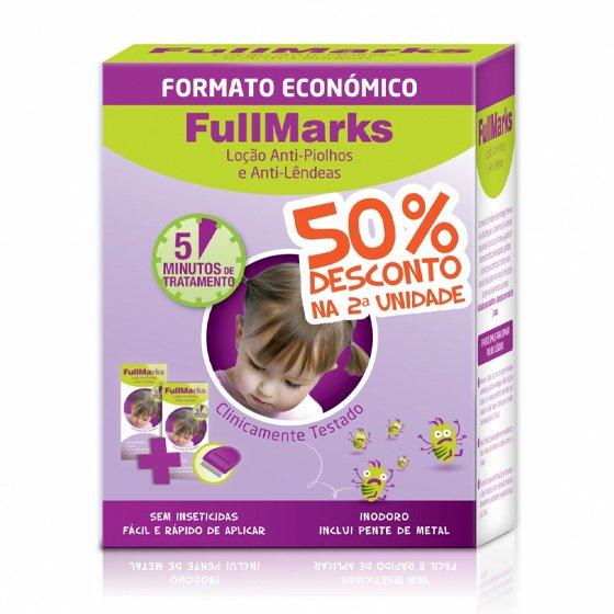 FULLMARKS LOÇÃO PIOLHOS/LENDEAS 100ML DU0 +50% DESCONTO