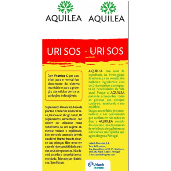 AQUILEA URI SOS CAPSULAS X10 UTIROSE® HIBISCO (HIBISCUS SABDARIFFA) POLIFENOIS ASCORBICO (ACIDO) (VITAMINA C)