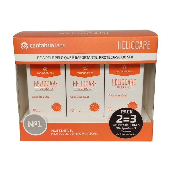 HELIOCARE ULTRA D CAPSULAS 3 X 30 UNIDADE(S) COM OFERTA DE 3ª EMBALAGEM, CAPS(S)