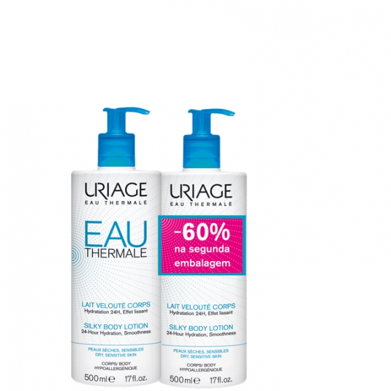 URIAGE EAU THERMAL LEITE HIDRA CORPO 500ML X 2