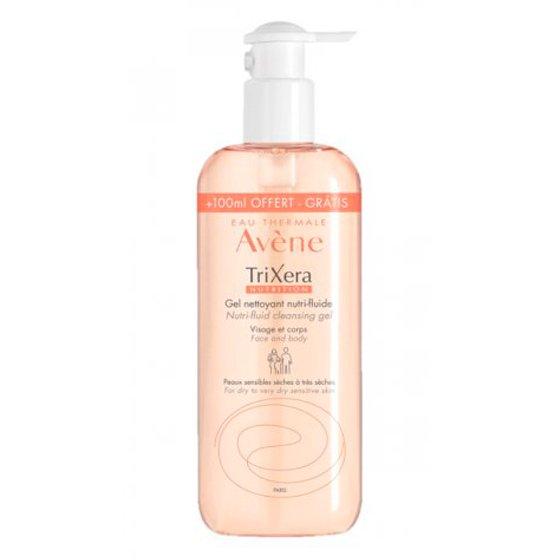AVÈNE Trixera Nutrition Gel de Limpeza para pele sensível e seca. Embalagem de 500 ml