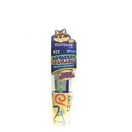ELGYDIUM KIDS GEL BANANA 50ML + ESCOVA DENTIFRICA + OFERTA COPO
