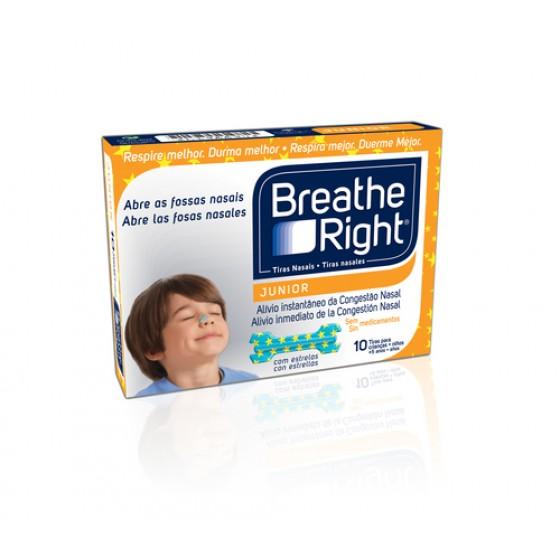 BREATHE RIGHT JUNIOR 10 TIRAS NASAIS