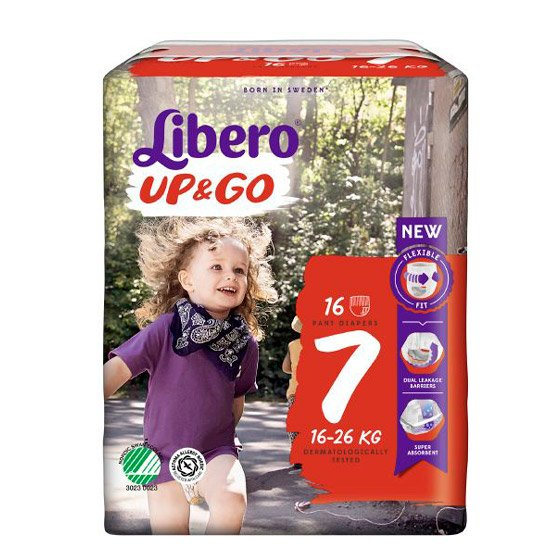 Libero Up Go fralda T7 16/26 Kg X 18