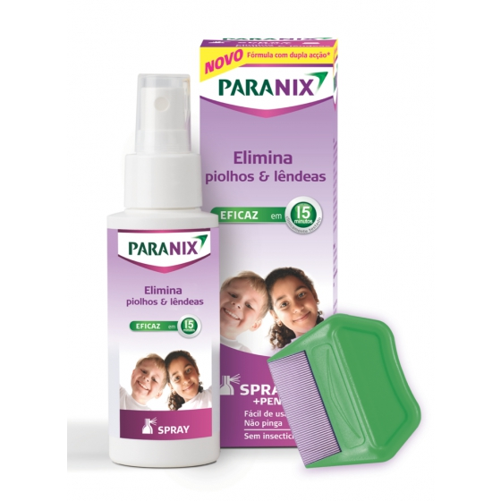 PARANIX SPRAY COM PENTE PIOLHOS 100ML