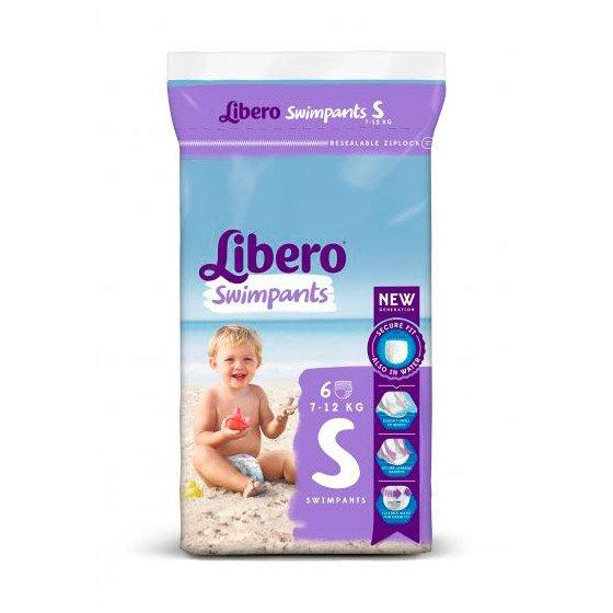 Libero Swimpants Fralda 7/12 Kg S X 6