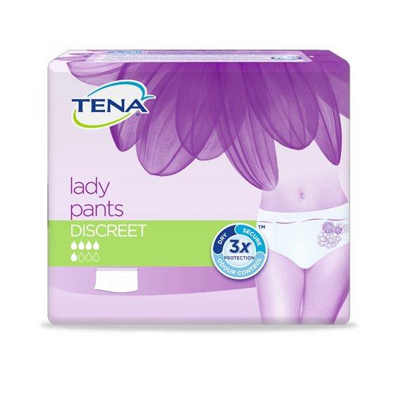 TENA LADY PROTECTIVE UNDERWEAR DISCREET LARGE X10