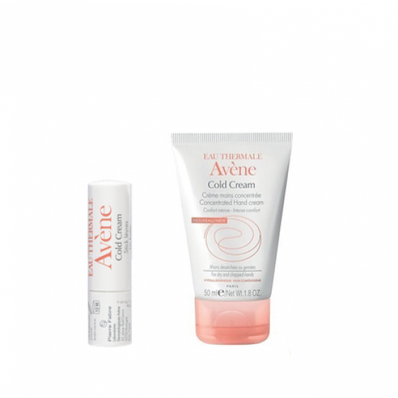 AVENE COLD CREAM CREME MAOS + STICK LABIAL CUIDADO ESSENCIAL