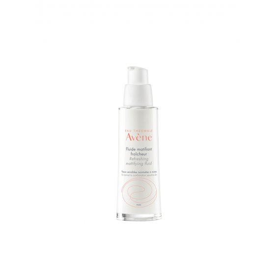 AVÈNE Fluido matificante refrescante para pele sensível. Embalagem de 50 ml