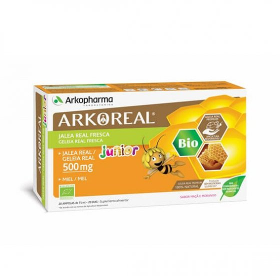 ARKOREAL JUNIOR GELEIA REAL AMPOLAS 15ML X 20