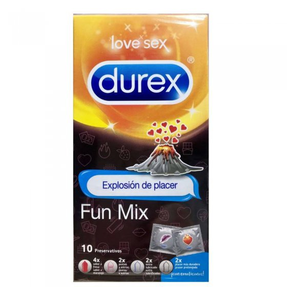DUREX LOVE SEX PRESERVATIVO FUN MIX X 10