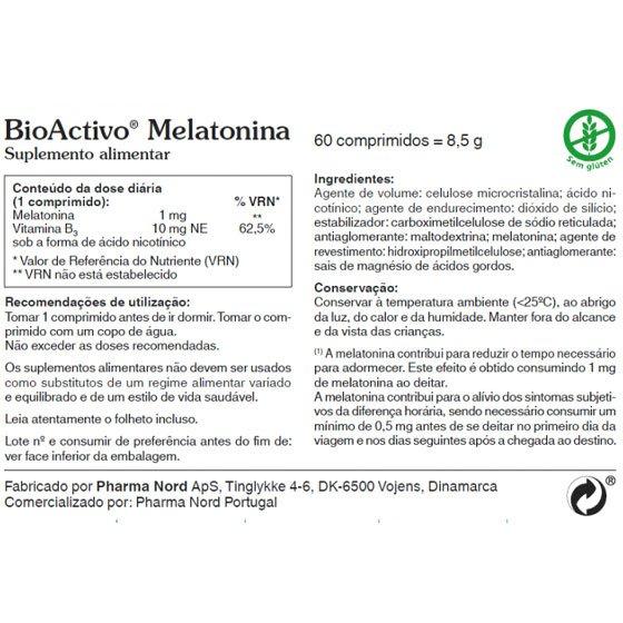 BIOACTIVO MELATONINA COMPRIMIDOS X 60