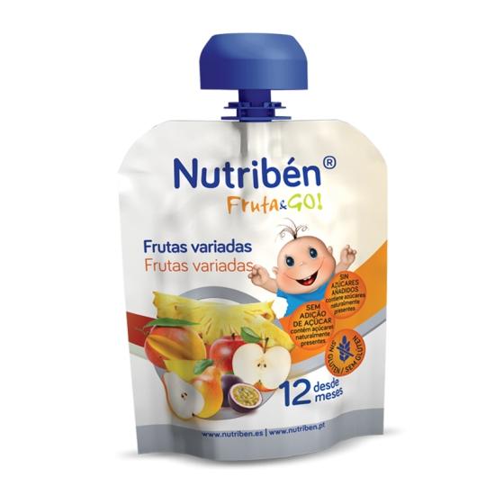 NUTRIBEN FRUTA GO PURE FRUTAS VARIADAS 90G