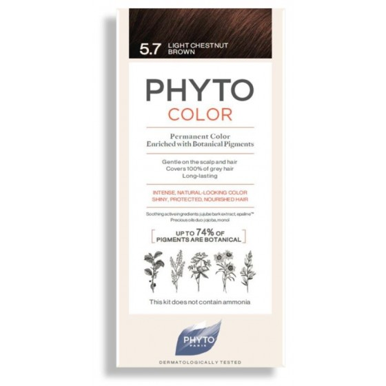 PHYTOCOLOR COLORACAO 5.7 CASTANHO CLARO MARRON 2018