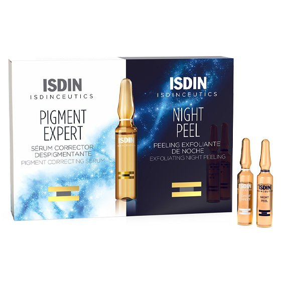 ISDIN ISDINCEUTICS PACK NIGHT PEEL ESFOLIANTE AMPOLAS 10 X 2 ML + SERUM PIGMEN EXPERT AMPOLAS 10 X 2 ML