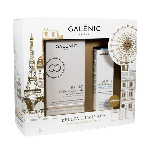 GALÉNIC COFFRET NATAL BELEZA ILUMINADA SECRET D'EXCELLENCE 30 ML + OFERTA BEAUTE DU REGARD