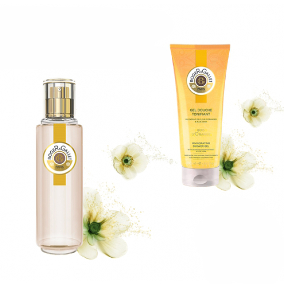 ROGER & GALLET BOIS D'ORANGE AGUA PERFUMADA 30 ML COM OFERTA GEL DUCHE 50 ML
