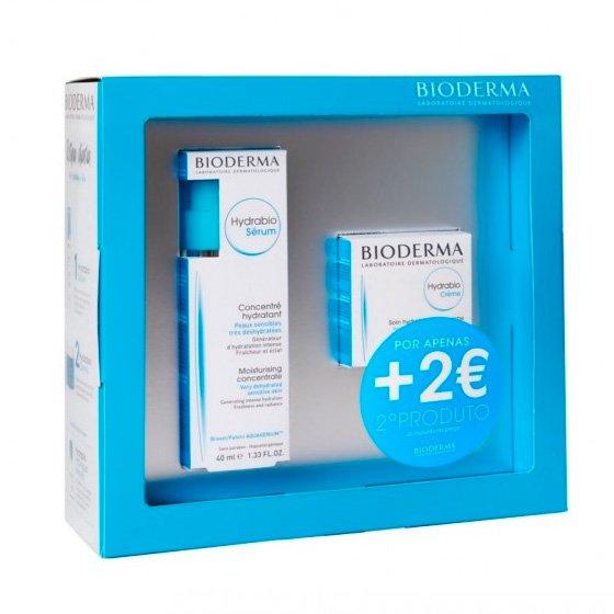 BIODERMA COFFRET HYDRABIO SERUM 40 ML + BIODERMA HYDRABIO CREME 50 ML COM PRECO ESPECIAL DE 2€
