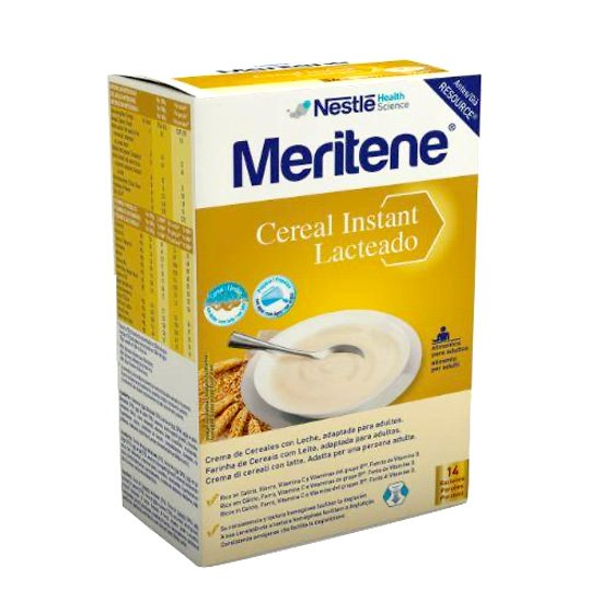 MERITENE CEREAL INSTANT LACTEADO SAQUETAS 2 X 500G