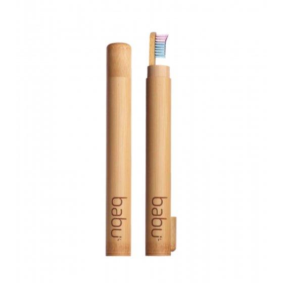 Babu Cana De Transporte De Escova De Dentes Criança Em Bambu