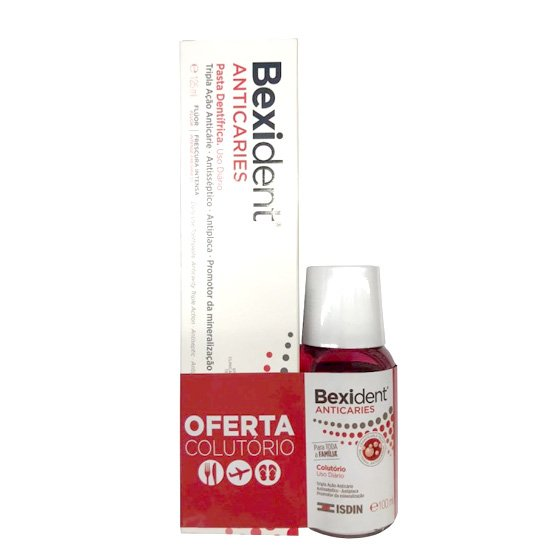 BEXIDENT ANTICARIES PASTA DENTIFRICA 125 ML COM OFERTA DE COLUTORIO 100 ML