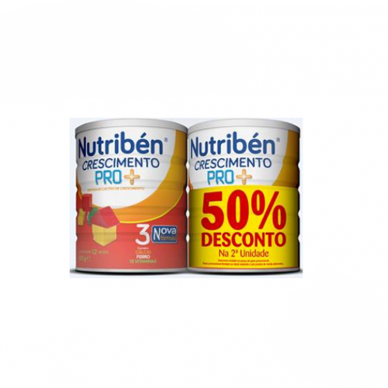 NUTRIBEN CRESCIMENTO PRO+ LEITE 800G X 2 + DESCONTO 50% 2UNIDADE