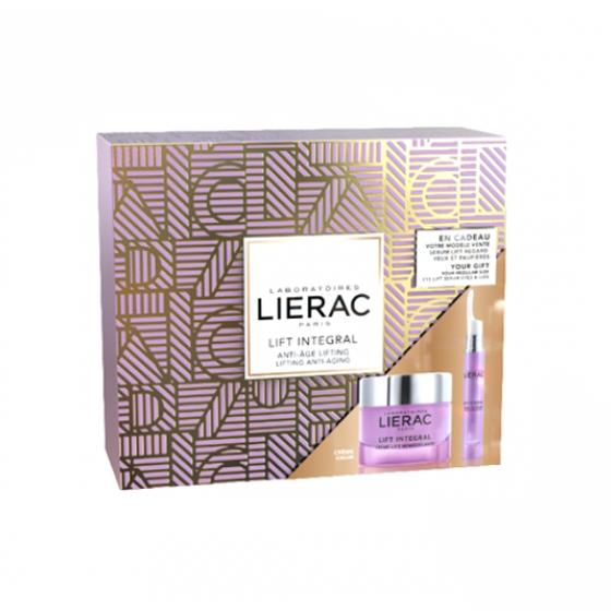 LIERAC LIFT INTEGRAL COFFRET CREME TENSOR REMODELANTE 50 ML COM OFERTA DE SERUM TENSOR CONTORNO DE OLHOS E PALPEBRAS 15 ML