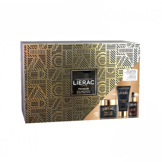 LIERAC PREMIUM COFFRET LUXE CREME SEDOSO 50 ML + MASCARA 75 ML COM OFERTA DE SERUM 30 ML 2019