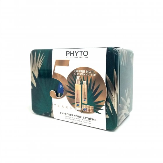 PHYTO PHYTOKERATINE EXTREME COFFRET NATAL 2019 CREME EXCECAO 100 ML COM OFERTA DE CHAMPO 50 ML + MASCARA 50 ML