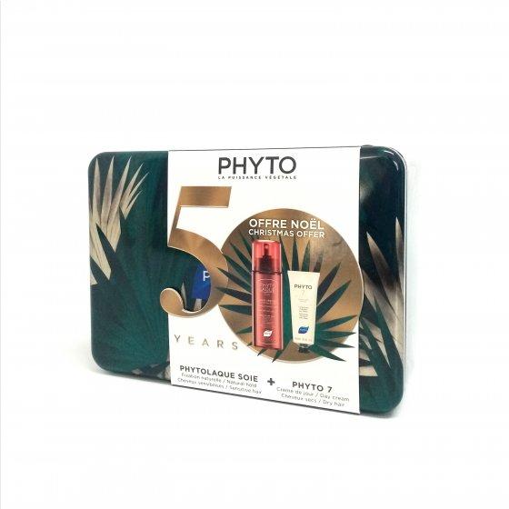 PHYTO PHYTOLAQUE SOIE LACA FIXACAO NATURAL 100 ML COM OFERTA DE PHYTO 7 CREME DE DIA HIDRATANTE 50 ML NATAL 2019