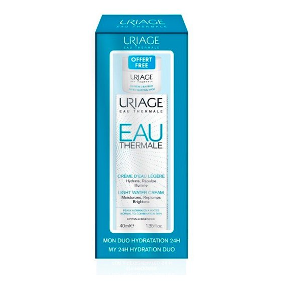 URIAGE EAU THERMAL CREME AGUA LIGEIRO 40ML + MASCARA AGUA 15ML